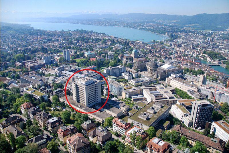 بروفيسور - دانيل فينك - مستشفى زيورخ الجامعي  - موقع المستشفى