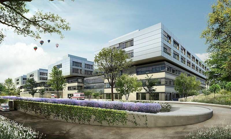 البروفيسور - أوفه مارتينس - مستشفيات SLKهايلبرون ش.م.م ـ مستشفى غيزوندبرونين، مركز الأورام هايلبرون ـ فرانكن - المنظر الخارجي
