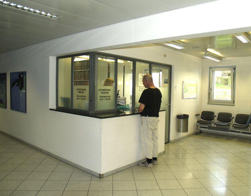 Universitätsklinik für Orthopädische Chirurgie und Traumatologie  - إينزيل بيتال، المستشفى الجامعي بيرن - مجال الاستقبال