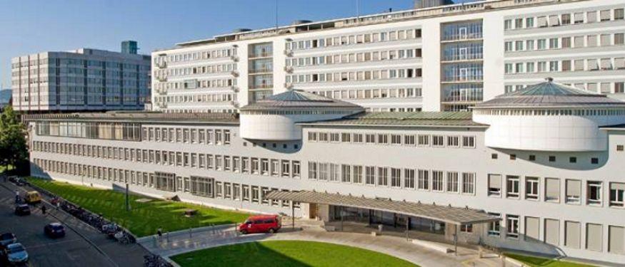 البروفيسور - ميشائيل طم - مستشفى بازل الجامعي - المنظر الخارجي