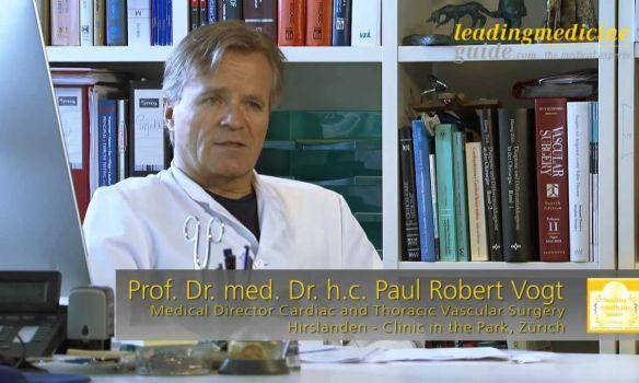 البروفيسور والدكتور ودكتور الطب الحائز على الدكتوراه الفخرية باول روبيرت فوغت - زوريخ - جراحة القلب